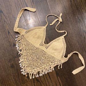 Crochet Puka Shell Top 🐚